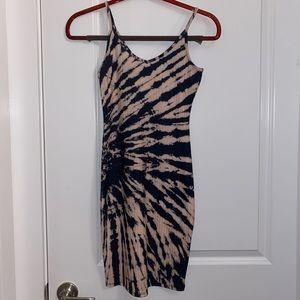 BRAND NEW tie dye bodycon dress